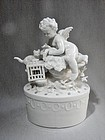 Blance de Chine Putti with Bird Cage and Cat - Germany