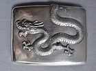 Chinese Export Silver Cigarette Case - High Relief Dragon