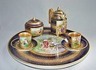 Cobalt Royal Vienna Demitasse Set - Classical Scenes