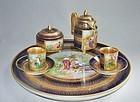 Cobalt Royal Vienna Demitasse Set - Classical Scenes