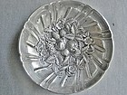S. Kirk Sterling Bon Bon Footed Bowl - Repousse Fruit Flowers