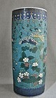Japanese Cloisonne on Porcelain Vase 19th Century