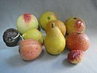 Nice Collection of Vintage Stone Fruit - 10 pieces