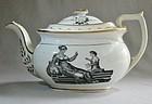 Adam Buck Style Transferware Teapot ca 1820