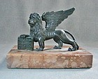 Bronze Winged Lion of Venice - Grand Tour Replica 19th Century