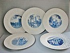 Five Wedgwood Commemorative Plates - Duke University 1937