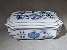 Meissen Blue Onion Porcelain Lidded Trinket Box