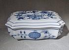 Meissen Blue Onion Porcelain Lidded Trinket Box