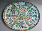 Rose Medallion Platter - 19th Century Export