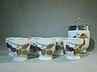 6 Pedestal Egg Cups 1 Egg Coddler Evesham Royal Worcester ca 1970