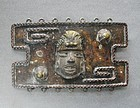 Large CASA MAYA Belt Buckle ca 1960 Precolumbian Head