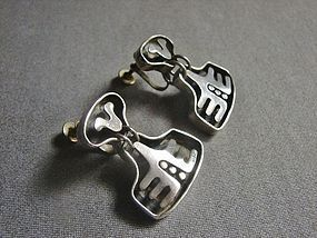 Modernist Salvador Teran Drop Earrings - Great Design