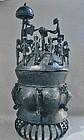 Large Brass Ashanti Kuodo Ritual Vessel - Akan Peoples