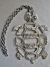 Marvelous Large Articulated Turtle Necklace - Louis Giusti - ca 1965