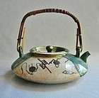 Fine Little Oribe Teapot - Tetsubin - Elegant Form
