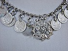 Imperial Russian Silver 5 Kopek Necklace 1835-1906 Coins