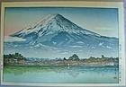 Tsuchiya Koitsu - Morning, Mt. Fuji from Lake Kawaguchi - 1936