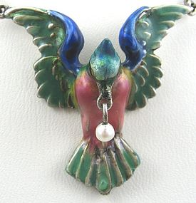 Enamel Bird Necklace � HERMANN & SPECK