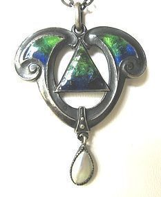 Sterling Enamel Pendant by QUEENSWAY � for Liberty?