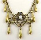 Etruscan/Nouveau Fringe Necklace