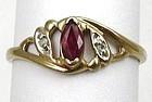 Pretty Ruby & Diamond Ring