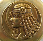 Maiden in Crescent Moon � Egyptian Revival Locket