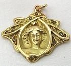 Diamond Set Maiden Pendant - Nouveau