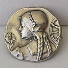 St. Catherine? Silver Pin/Brooch