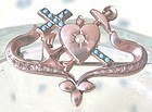 Rose Gold-Fronted Faith Hope & Charity Pin
