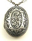 Victorian Locket with Paperclip Chain