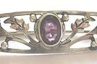 Sterling Amethyst Foliate Brooch � A&C