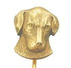 Sweet Hound Dog - 12k Gold Stick Pin