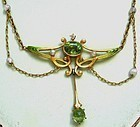 Peridot Enamel Garland Necklace � Book Piece!