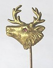 Gold Elk Stick Pin, Marks