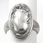UNGER Silver Ring � Converted Cuff Link