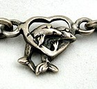 Dolphins! Hearts!  Bracelet