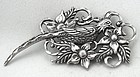 Sterling Pheasant Brooch / Necklace