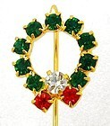 Christmas Wreath Stick Pin