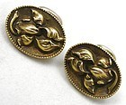 Gold Iris Cuff Links � Art Nouveau � Gorgeous!
