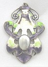 �Suffragette� Pendant - Enamel on Sterling
