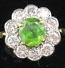 Demantoid & Diamonds Ring