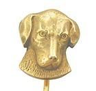 Hound Dog - 12k Gold Stick Pin