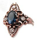 Diamond & Iolite Ring � Victorian Revival