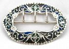 Plique a Jour Sash Buckle from 1886 � Rare!