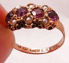 15k Garnet Pearl Ring � 1872!