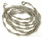 Fancy-Link Sterling Chain 26�