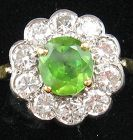 Demantoid & Diamonds Ring