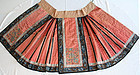 Chinese Qing Silk Embroidered Padded Winter Skirt Forbidden Stitch