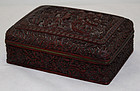 Chinese Qing Dynasty Cinnabar Lacquer Rectangular Box