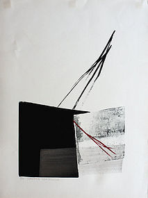 Oversized Japanese Limited Edition Lithograph Toko Shinoda Dawning